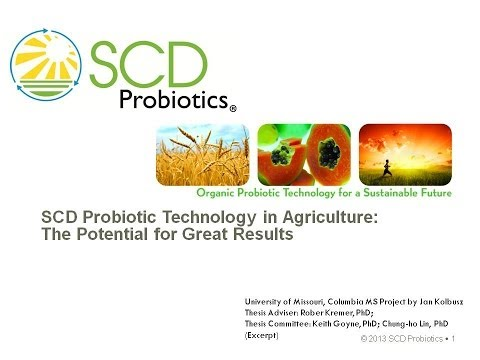Probiotics Technology in Agriculture: The Potential for Great Results