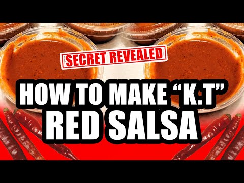 How to Make King Taco Red Salsa Recipe Salsa Roja