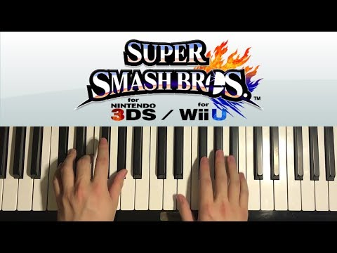 How To Play - Super Smash Bros. 4 - Main Theme (PIANO TUTORIAL LESSON)
