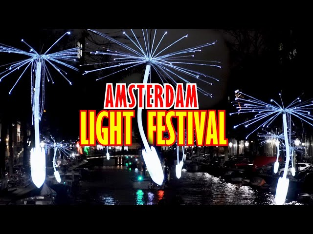 AMSTERDAM LIGHT FESTIVAL 2018/2019 [ CANAL CRUISE AT NIGHT ]