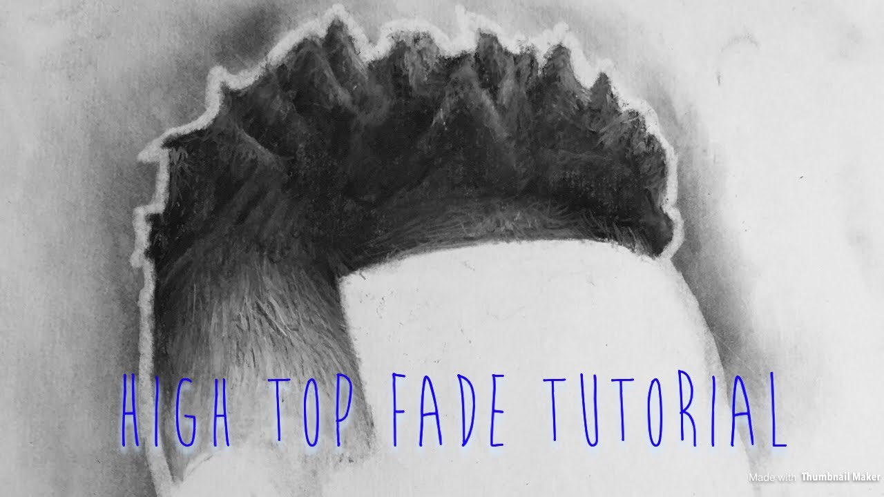 Drawing Tutorial High Top Fade Youtube