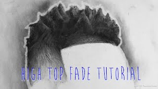Drawing Tutorial/High top fade