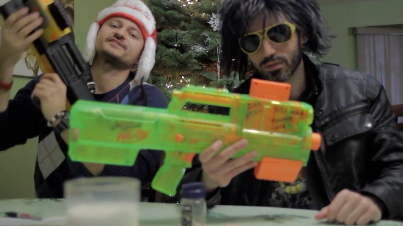 1 Hour of Christmas NERF WAR!