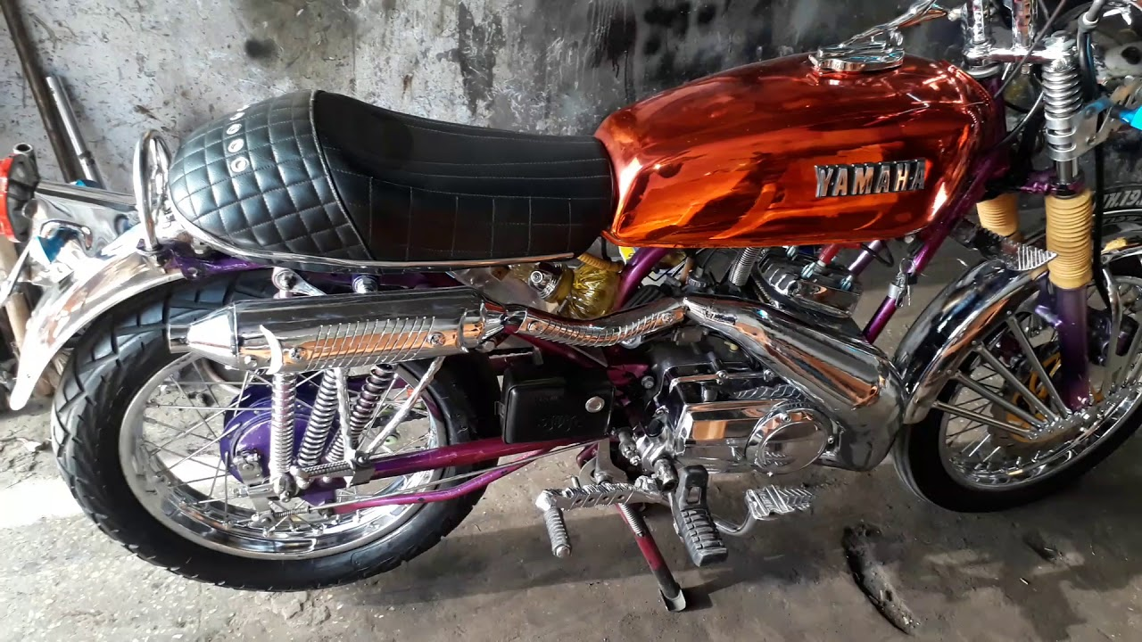 yamaha RX 100 modified bike by RX team channel