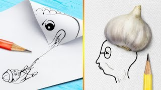 24 Easy and Cool Drawing Tricks