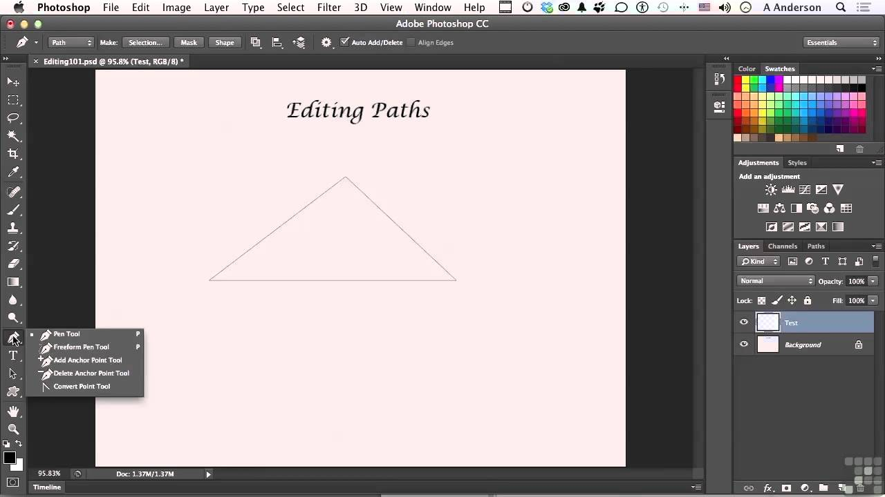 how to make multiple work paths in photoshop