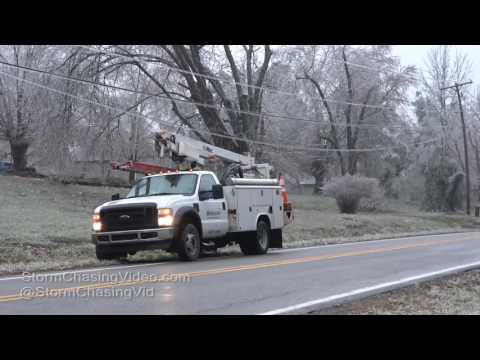 Carbondale, IL Ice Storm Damage & Destruction B-Roll - 1/13/2017