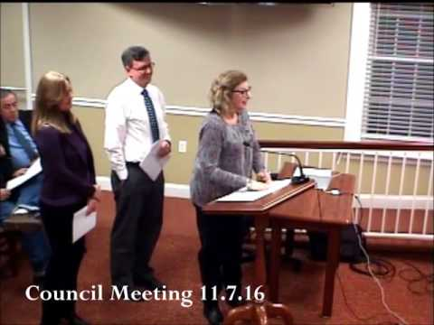 Town Council Meeting 11.7.16