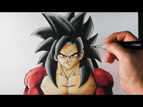Cómo Dibujar a Goku SSJ4 paso a paso   Dragon Ball GT   ArteMaster