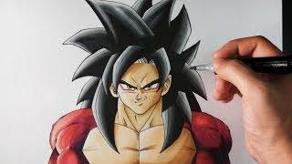 Cómo Dibujar a Goku SSJ4 paso a paso | Dragon Ball GT | ArteMaster