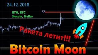 Bitcoin-  последний прыжок. Ethereum Classic, Ethereum, Stellar, SiaCoin - обзор.