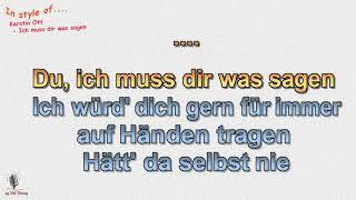 Kerstin Ott - Ich muss dir was sagen - Cover