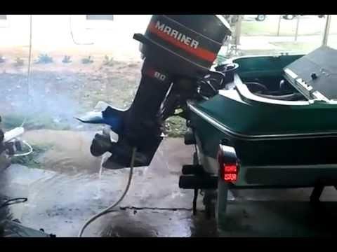 Mariner 83 Motor 80 Hp Hydra Sport Boat Youtube
