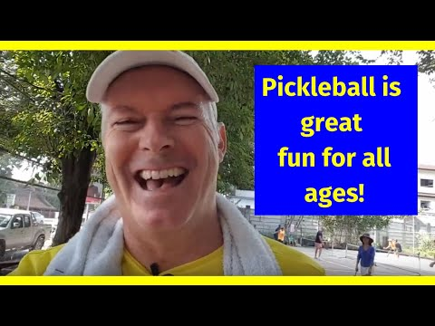 Pickleball In Chiang Mai, Thailand. Great Fun For All Ages!