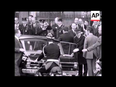 POMPIDOU'S  FUNERAL AT NOTRE DAME  - NO SOUND