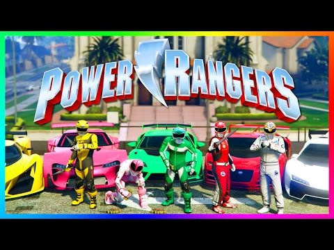 GTA ONLINE POWER RANGERS SPECIAL - GTA 5 POWER RANGERS 2017 MOVIE EASTER EGGS, SECRETS & MORE!