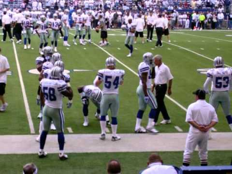 2007 Dallas Cowboys vs. Indianapolis Colts Preseason: Warmups