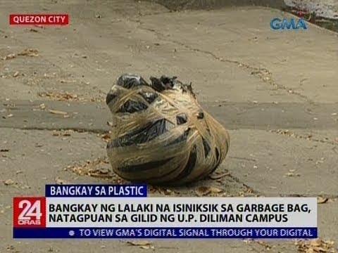 Bangkay ng lalaki na isiniksik sa garbage bag, natagpuan sa gilid ng U.P. Diliman campus