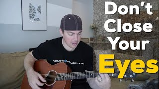 """""""Don't Close Your Eyes"""" Beginner Guitar Lesson - (Keith Whitley)"""