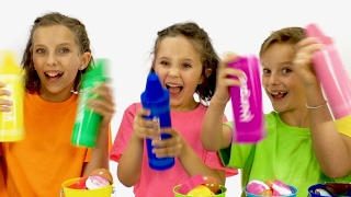 Learn English Words! Giant Surprise Color Crayon Toys with Sign Post Kids!