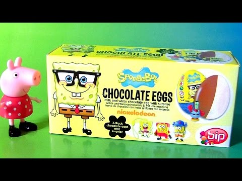 Funtoys SpongeBob Squarepants Egg Surprise 3-pack Chocolate Huevos Sorpresa Funtoyscollector
