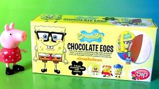 Funtoys SpongeBob Squarepants Egg Surprise 3-pack Chocolate Huevos Sorpresa Funtoyscollector