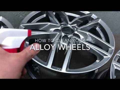 How to clean your alloy wheels car rim cleaning instruction DIY