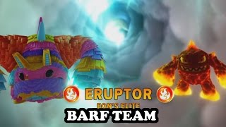 skylanders imaginators pain yatta elite eruptor gameplay barf team