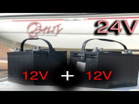 Installing 24V battery system for trolling motor (24 Volt Battery)