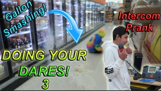 DOING YOUR DARES IN WALMART 3 (GALLON SMASHING!)