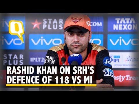 Rashid Khan Speaks After Helping SRH Defend 118 vs Mumbai Indians   The Quint
