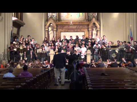 Wayne State Music Department Rehearsing Mozart's Requeim for Thursday's concert