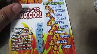 "Texas Lottery $5 Scratch Off ""Hot Numbers"" #4"