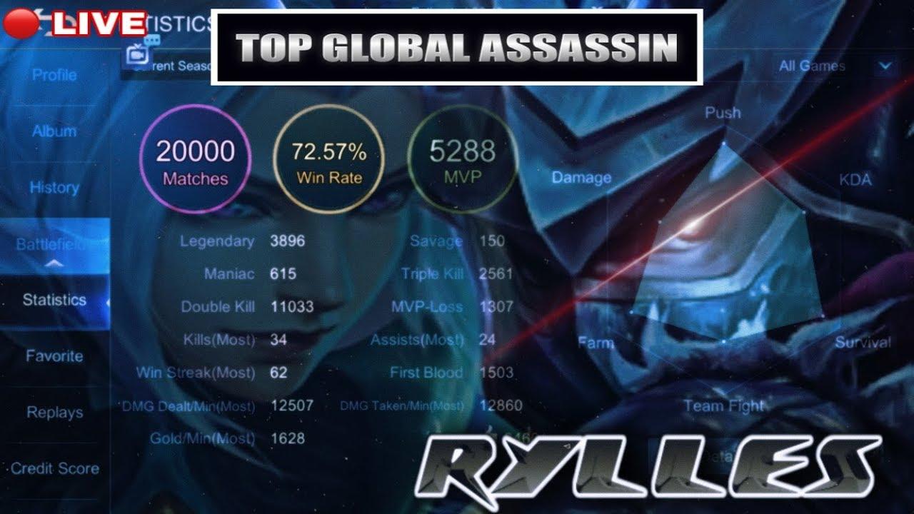 #3 GLOBAL HAYABUSA WORLD RANK 07/10/20 Mobile Legends