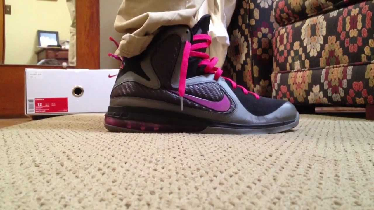b4874175512956 Lebron 9 Miami Nights On Feet Review (720 HD) - YouTube