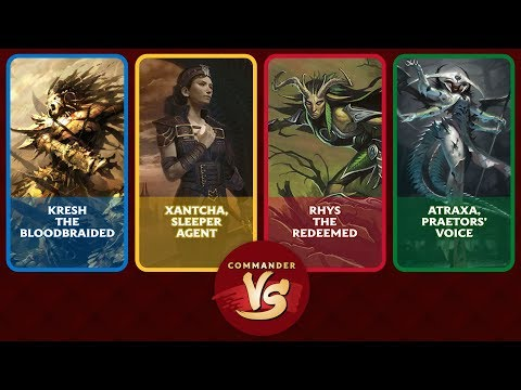 Commander VS Special: Kresh vs Xantcha vs Rhys vs Atraxa [EDH]