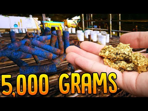 Digging & Cleaning Out 5,000 Grams Of Gold Nuggets - Gold Rush The Game