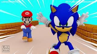 Super Mario vs Sonic the Hedgehog 3D Animation
