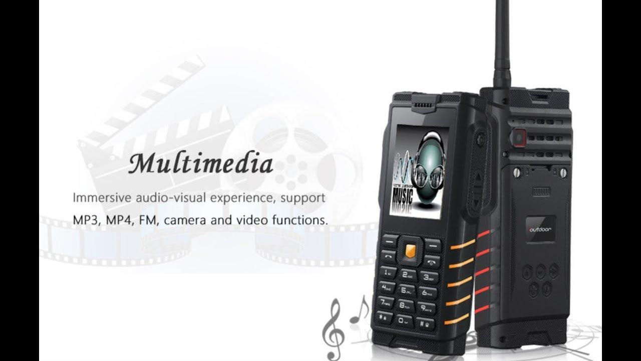 Ioutdoor T2 Dual SIM Card Phone IP68 Waterproof Walkie Talkie Unboxing by  GearVita com