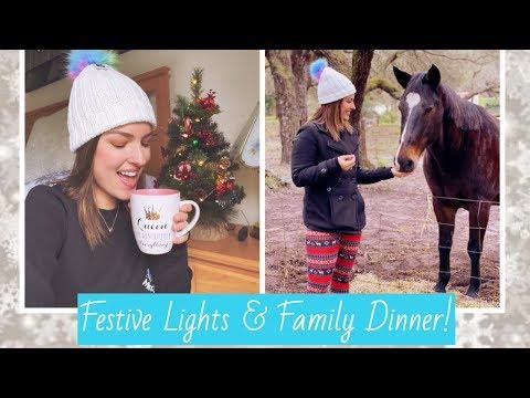 FESTIVE LIGHTS & FAMILY DINNER! | VLOG