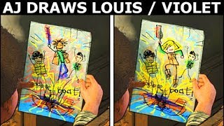 AJ Draws Louis Or Violet - Difference Check - The Walking Dead Final Season 4 Episode 3: Broken Toys