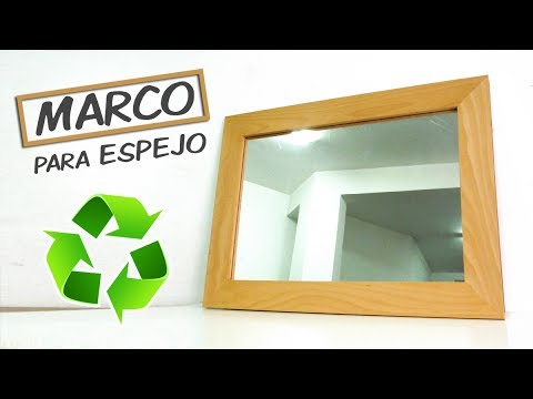 Como hacer un marco de madera para espejo youtube for Espejo que se abre