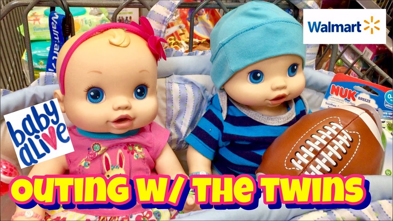 Baby Alive Wets N Wiggles Outing To Walmart Baby Alive
