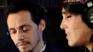 "Sandra Echeverria ""La Fuerza Del Destino"" Marc Anthony (Detras de camaras)"