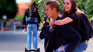 Picking Up Girls While Riding A Hoverboard!!
