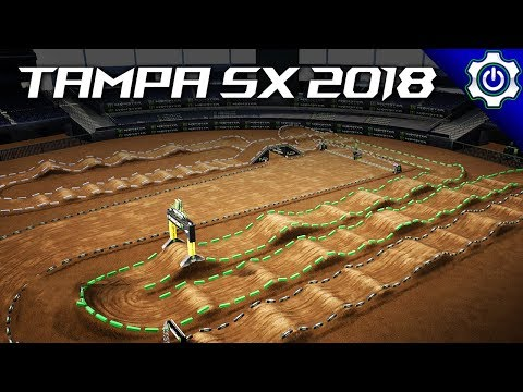 Monster Energy Supercross - 2018 Tampa Supercross Gameplay