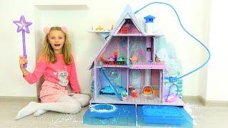 Polina y la nueva casa de invierno para muñecas LOL