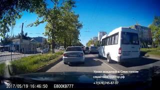 Урок вождения в Севастополе (экзаменационные маршруты: Острякова -