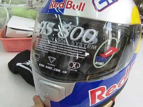 Red Bull Full Face Cruise Motorcycle Helmetby Thebeijingshop Com