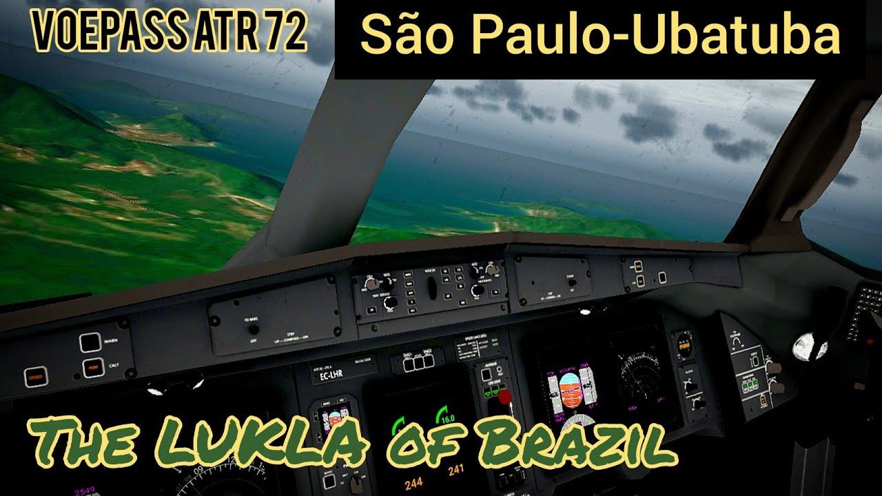 The LUKLA of Brazil | São Paulo (SBSP) to Ubatuba (SDUB | VoePass ATR 72 | RFS